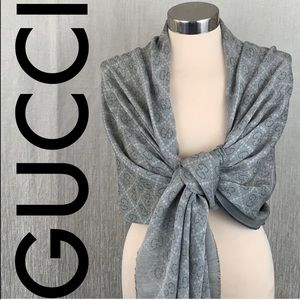 👑 GUCCI LARGE SHAWL /  WRAP/ SCARF 💯 AUTHENTIC